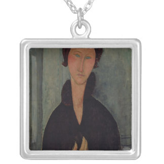Woman with Blue Eyes, c.1918 Silver Plated Necklace