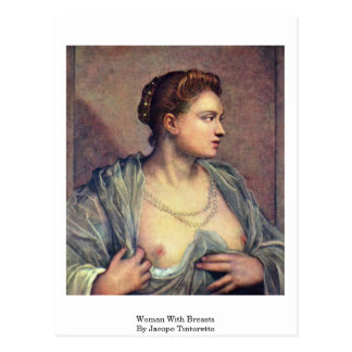 Woman With Breasts By Jacopo Tintoretto Postcard