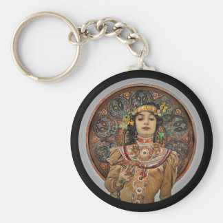 Woman with Champagne Glass Keychain