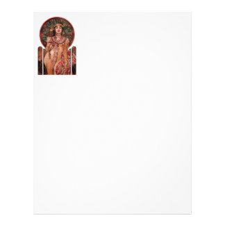 Woman with Champagne Glass Letterhead