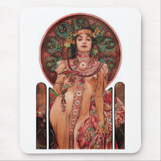 Woman with Champagne Glass Mouse Pad
