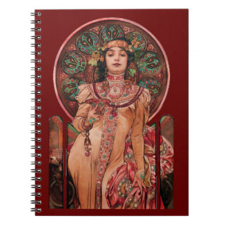 Woman with Champagne Glass Notebook