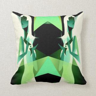 woman with diamonds throw pillow