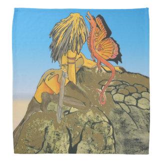 Woman with Dragon Bandana
