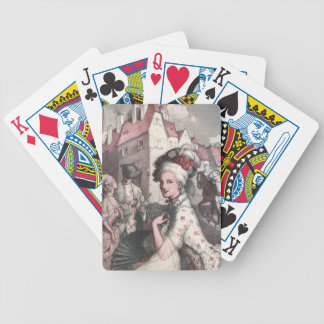 Woman with Fan in New Amsterdam Bicycle Playing Cards