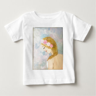 Woman with Flowers in her Hair Baby T-Shirt