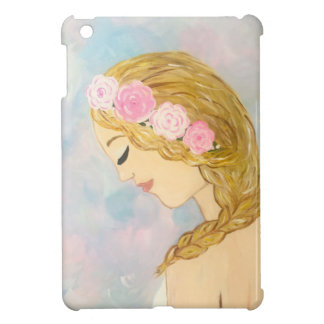 Woman with Flowers in her Hair Cover For The iPad Mini