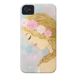 Woman with Flowers in her Hair iPhone 4 Case-Mate Cases