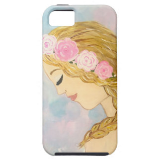 Woman with Flowers in her Hair iPhone 5 Cases