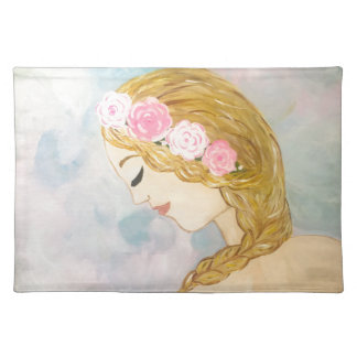 Woman with Flowers in her Hair Placemat