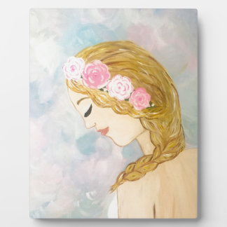 Woman with Flowers in her Hair Plaque