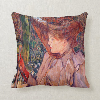 Woman with Gloves Throw Pillow