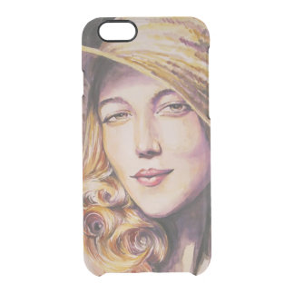 Woman with hat clear iPhone 6/6S case