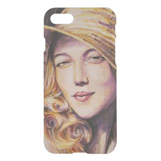 Woman with hat iPhone 7 case
