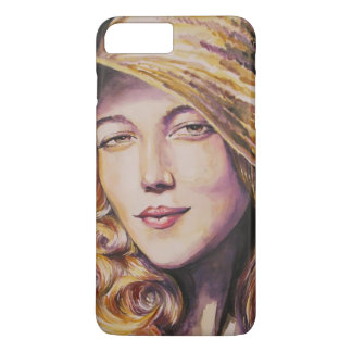 Woman with hat iPhone 7 plus case