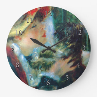 Woman with Her Dog Renoir Fine Art Large Clock