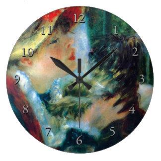 Woman with Her Dog Renoir Fine Art Wall Clocks