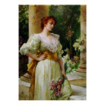 Woman with Irises Fine Art Poster