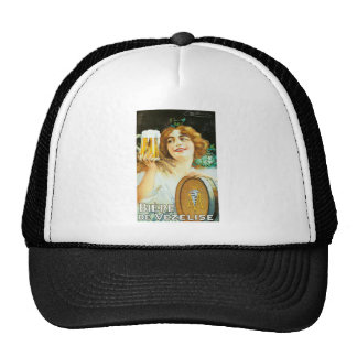 Woman with large pint of beer French illustration Trucker Hat