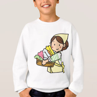 Woman with Laundry Basket Sweatshirt