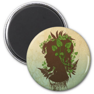 Woman with Leaves and Vines Magnet