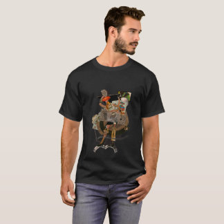 woman with letters of I baralho - surreal glue T-Shirt