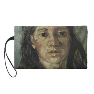 Woman with Loose Hair by Vincent Van Gogh Wristlet Clutch