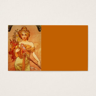 Woman with Orange Bouquet Business Card