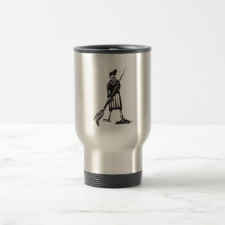 Woman with Paintbrush 15 Oz Stainless Steel Travel Mug