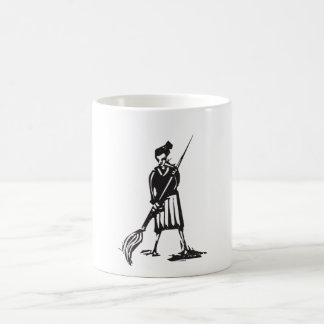 Woman with Paintbrush Classic White Coffee Mug