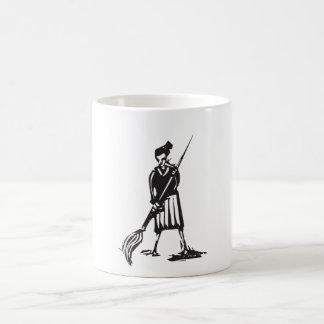 Woman with Paintbrush Classic White Coffee Mug