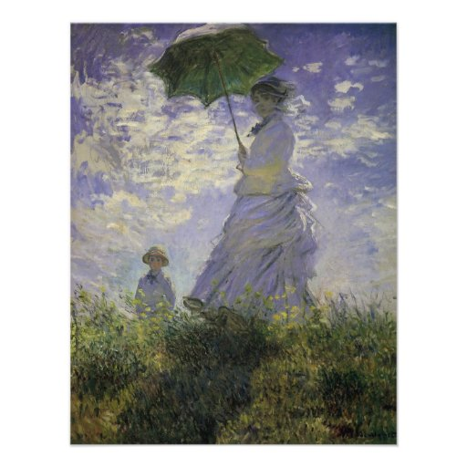 Woman with Parasol by Monet, Vintage Impressionism Personalized Invite