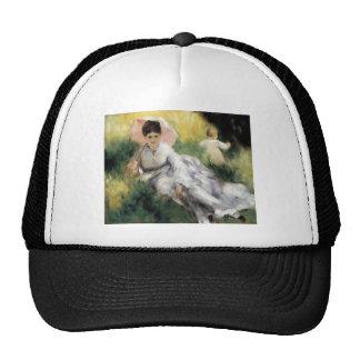 Woman with Parasol by Pierre Renoir Trucker Hat