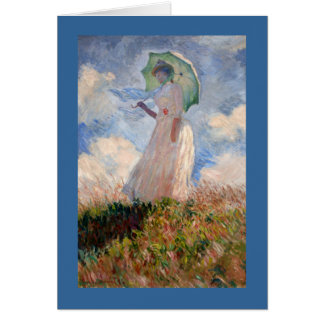 Woman with Parasol Card