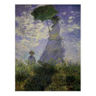 Woman With Parasol Claude Monet Mother's Day Card