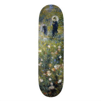 Woman with Parasol in a Garden by Renoir Skate Deck
