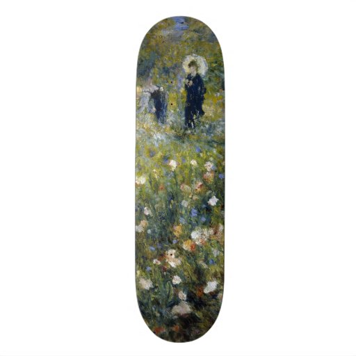 Woman with Parasol in a Garden by Renoir Skate Board