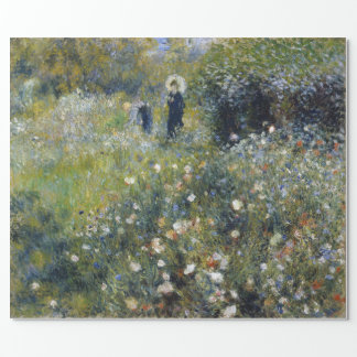 Woman with Parasol in a Garden by Renoir Wrapping Paper