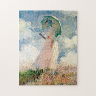 Woman with Parasol Promenade Monet Jigsaw Puzzle