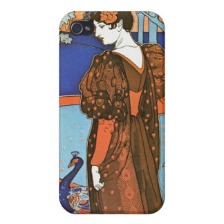 Woman with Peacocks – Louis Rhead iPhone 4 Cover