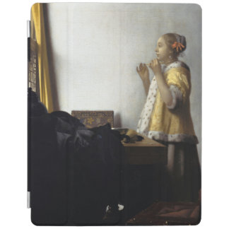 Woman with Pearl Necklace by Johannes Vermeer iPad Cover