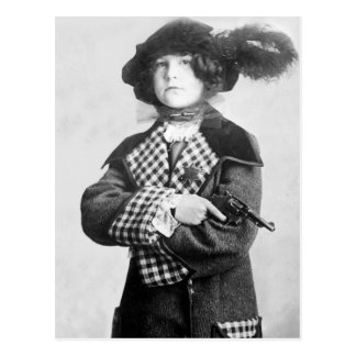 Woman with Pistol, 1910 Postcard