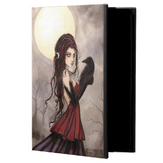 Woman with Raven Fantasy Fairy Mystical Art iPad Air Cover