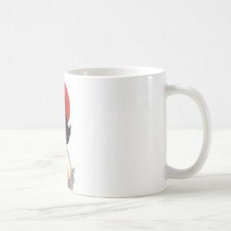 Woman with Red Barret Mug