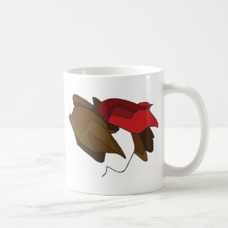 Woman with Red Hat Coffee Mugs
