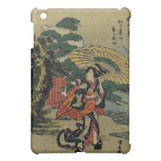 woman With Umbrella Walking In The Rain iPad Mini Covers