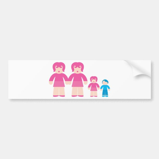 Woman Woman and children Bumper Sticker