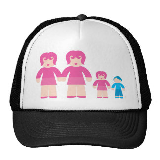 Woman Woman and Trucker Hat