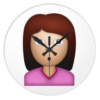 Woman Wondering Face - Emoji Wall Clock