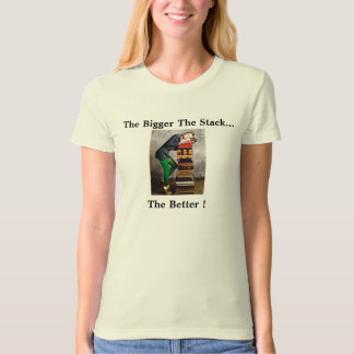 woman'e tee shirt books bookstore